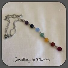 Chakra Bead Necklace ~ 7 symbols of Chakra