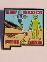 Fraternal Order of Eagles FOE New Mexico State Aerie -Aliens- Vest Badge Hat Pin