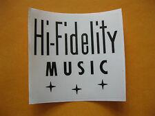 HI-FIDELITY MUSIC - STICKER (83mm x 90mm) Jukebox, 40's, 50's, 60's Music