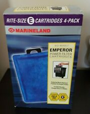 Marineland Rite Size E Cartridge 4Pk fits Emperor BIO Wheel Power Filter 280 400