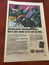 1989 VINTAGE 6.5x10 COMIC PRINT GAME AD NES NINTENDO TAXAN STAR SOLDIER CONTEST