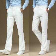 Men Bell Bottom Flared Pants Formal Dress Trousers Retro 60s 70s Casual Slim