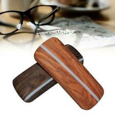 Hard Wooden Grain Spectacle Box Reading Glasses Sunglasses Case Storage