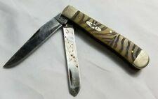 Case XX Vintage Rare Zebra Tiger Stripe 2 Blade Old Timer Folding Pocket Knife