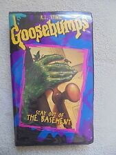 Goosebumps Stay Out Of The Basement 1996 Kids Clamshell Horror  Paperwork Vhs