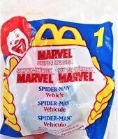 Vintage #1 McDonald's Marvel Super Heroes- 1996- Spiderman Vehicle- UNOPENED!
