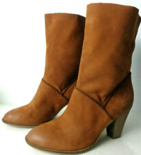 b5edd5d9b36 STEVE MADDEN  Dalilah  US 10M Brown Leather Pull On Mid Calf Boots ...