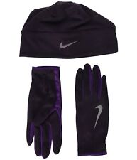 NIKE Dri-Fit Lightweight Running Beanie & Gloves Set  Women's sz X-Small/ Small