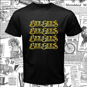 BEE GEES Logo Men's Black T-Shirt Size S-5XL
