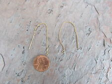 14KT Gold Filled Threader Chain Ear Wires with Open Ring Dangle Earrings NEW