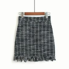 Autumn Winter  Woolen Skirt Women A-line Package Hip High Waist Mini Skirt