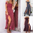 Women Sexy Plus Size Floral Romper Dress Evening Party Split Long Maxi SunDress