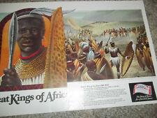 "Budweiser Great Kings of Africa Chaka Zulu Print 20"" x 13.25"""