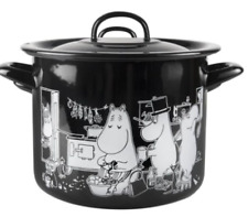 Moomins In The Kitchen Enamel 3.5 L Pot With Lid