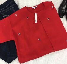 Adrienne Vittadini NWT Missy Gromet Knit Designer Solid Color Jacket Size Large