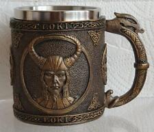 More details for a viking mug / tankard loki norse god man cave bar beer ale coffee (ammc9848)