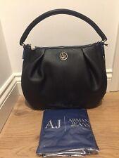 ARMANI JEANS Eco Leather Hobo Bag - Black - £180