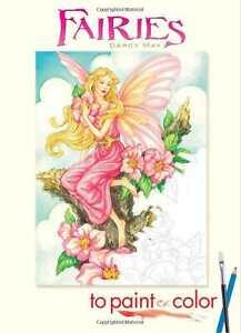 Fairy Adult Colouring Book Creative Art Therapy Fantasy Mystical Fairies Garden