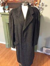 Vintage Men's Alpaca Wool Jacket Coat Overcoat Quala Paca Welterweight Black