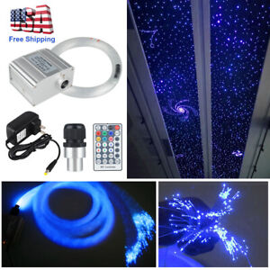 All Car Use 10W RGBW Twinkle LED Fiber Optic Star Ceiling Lights Kit with cables