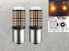 Front Turn Signal BAU15S 7507 PY21W samsung 144 SMD LED Amber Bulb W1 JAE
