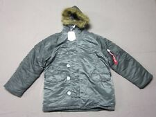 ALPHA INDUSTRIES MENS GUN METAL GRAY N-3B PARKA JACKET COAT SIZE 3XL XXXL NEW