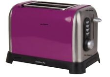 2 Slice Purple Toaster Stainless Steal Body 4 Functions Crumb Tray Kitchen