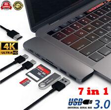 7 in 1 Type-C Hub USB3.1 Port Multi Card Reader 4K HDMI Adapter For MacBook Pro
