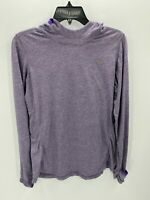Nike Running Womens Size Large Purple Long Sleeve Hooded Sweatshirt