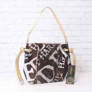 NWT $150 Ed Hardy by Christian Audigier Gray Terri Small Shoulder Bag Zip NEW