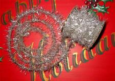 Tarnished Silver Small Spool Vintage Style Tinsel Garland 12  Feet Christmas