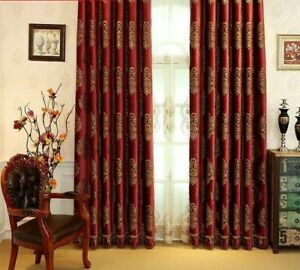Blackout Curtain Window Treatment Cloth Tulle Curtains Floral European Style New