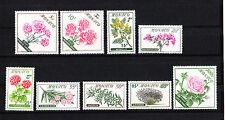 MONACO  timbre fleurs dont rose  de 1959   num: 514/22    *