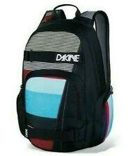 Dakine ATLAS 25L Skyline Black Multi Striped Skateboard Carry Straps Backpack