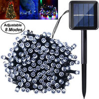 100 200 LED Fairy Solar Powered String Light Starry Outdoor Garden Party Wedding