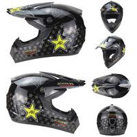 Motorcross Dirt Bike Off Road MTB Motorcycle Helmet Racing Full Face DOT L Black