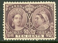 Canada 1897 Jubilee 10¢ Brown Violet Scott #57 GEM! Mint  F54