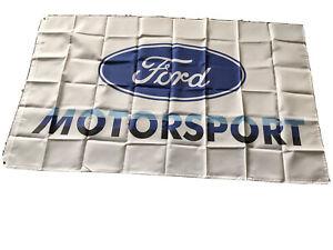 Ford Motorsport Flag Banner 3x5 Ft Flag Garage Car Show Wall Gift New!