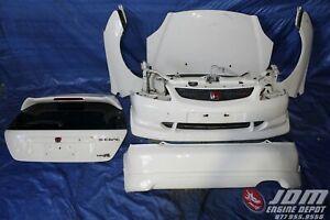 02-05 HONDA CIVIC TYPE-R CTR EP3 WHITE FRONT & REAR CONVERSION JDM K20A