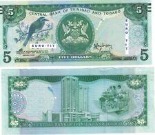 A SAISIR      BILLET   5 $    TRINIDAD ET TOBAGGO   2006      NEUF    !!!!  UNC