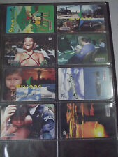 SILVAM 1998 Complete Set of 8 Different Phone Cards from Brazil