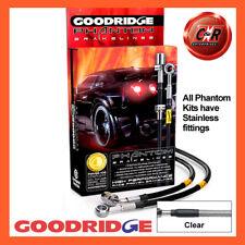Honda Civic ED7 1.6 RrDrums 90-91 SS Clear Goodridge Brake Hoses SHD0003-4C-CL