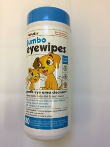 Petkin Jumbo Eye Wipes for Dogs and Cats - 80 Wipes