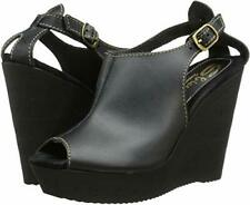 SBICCA Stanza Black Leather Wedge Platform Sandals Women's Sz EUR 41 US 10 $79