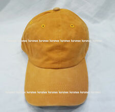 GOLD YELLOW MUSTARD Pigment Dyed Cotton Baseball Cap Hat buckle closure