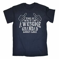 What An Awesome Grandad Looks Like T-SHIRT Grandpa Old Funny Gift fathers day