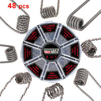 48pcs Prebuilt Coils Spiral Fused Clapton Twist Vape Coil for RDA RTA Atomizer