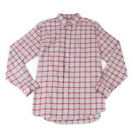 Southern Tide Mens Shirt Red Size Medium M Button Down Plaid Print $98 #659