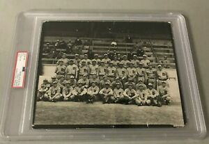 Early 1930 Detroit Tigers Team PSA/DNA Type 1 Photo w/ Hank Greenberg Rookie