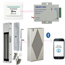Mobile Bluetooth Smart Access Control System & 600lbs Magnetic Lock Full Kits